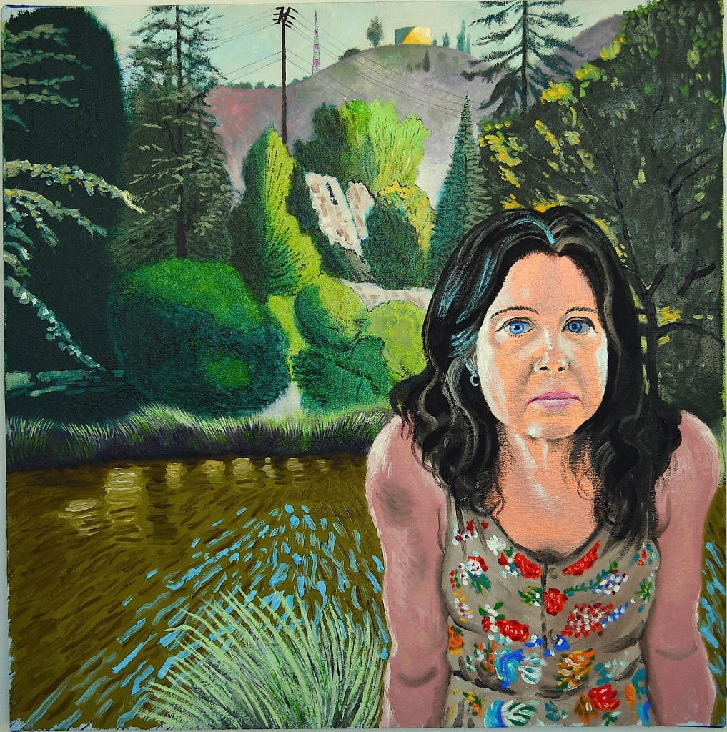 Stephanie Franklin Canyon 2015 o/c 31x31 inches