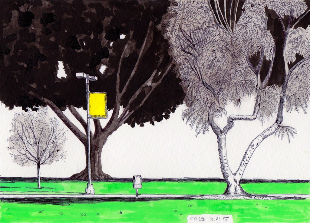 CSULB Trees 10.21.15 2015 Ink and gouache on paper 5.5x7.5 inches